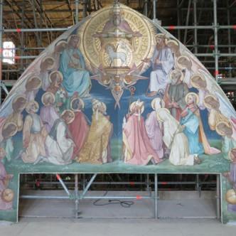 restauratie schildering Oosterman kathedrale basiliek st Bavo Haarlem